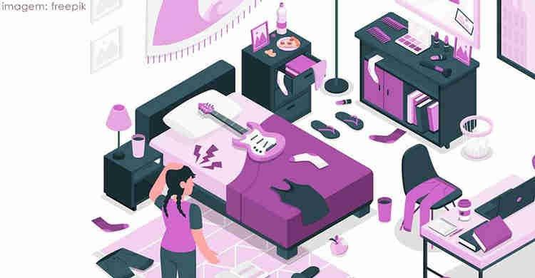 bagunça e desorganização